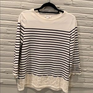 Tops - Cotton striped shirt